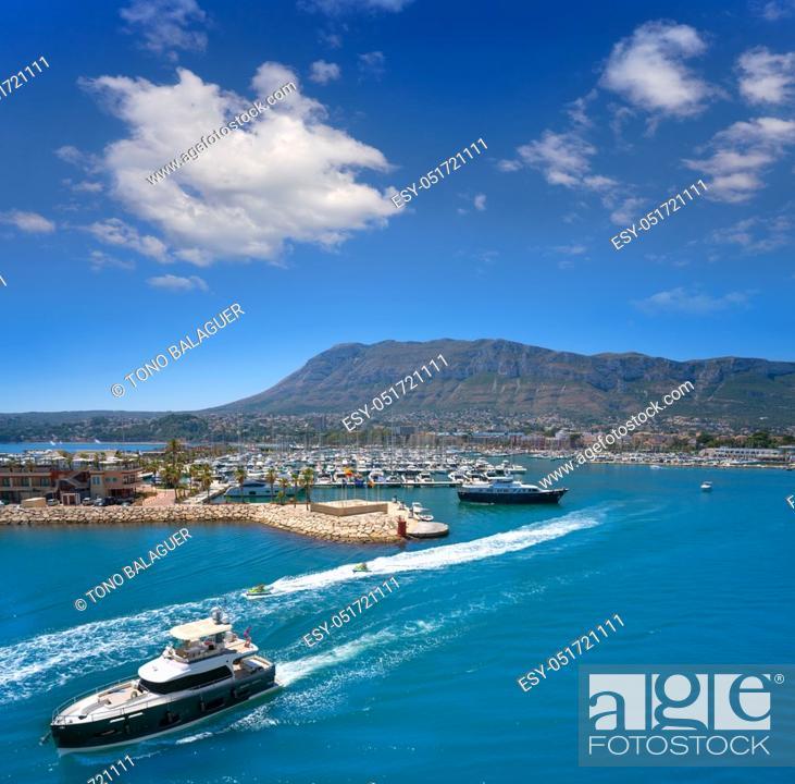 Stock Photo: Denia skyline in Alicante of Mediterranean Spain.