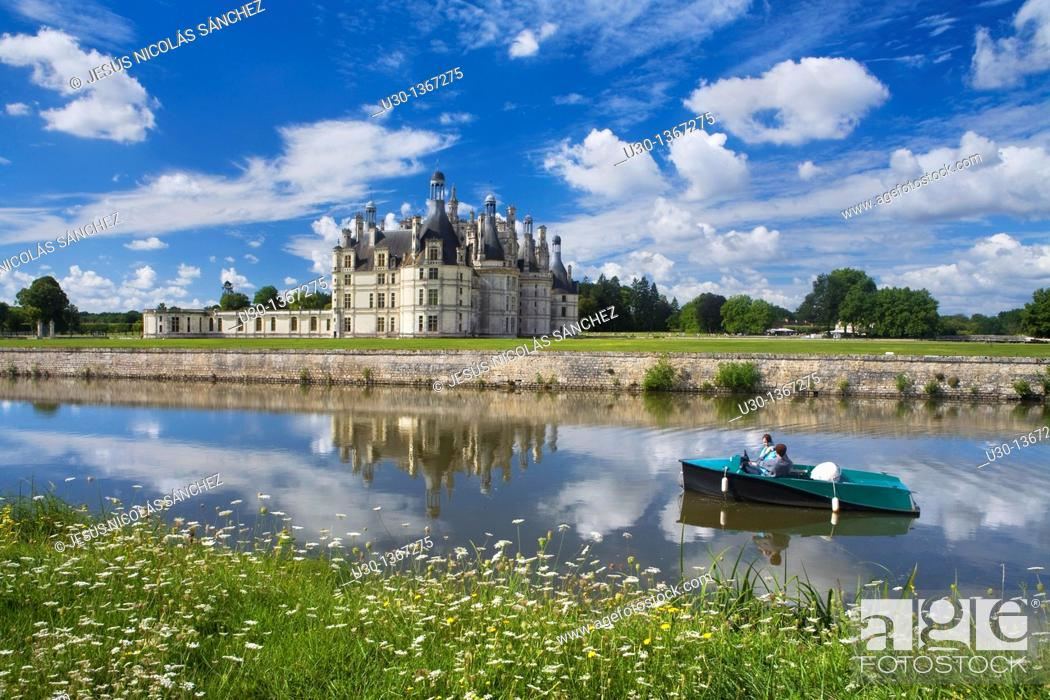 Stock Photo: Chambord castle in Loire Valley listed as World Heritage by UNESCO  France.
