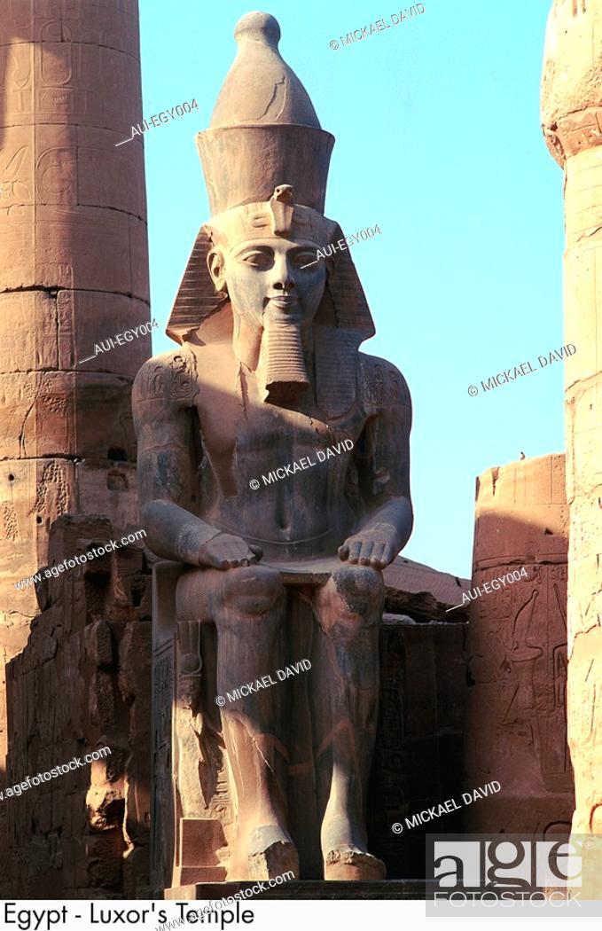 Stock Photo: Egypt - Luxor - Luxor Temple.
