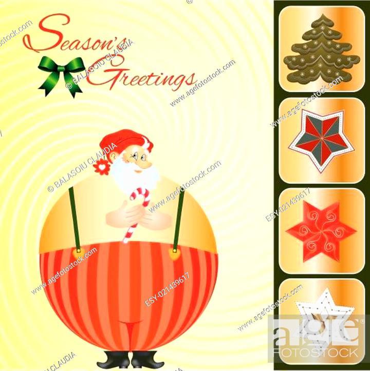 Stock Vector: Christmas card.