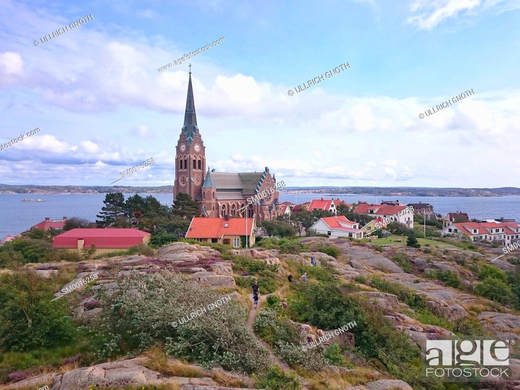 Stock Photo: View of Lysekil Church (Lysekils kyrka), Bohuslän, Västra Götaland County, Sweden.
