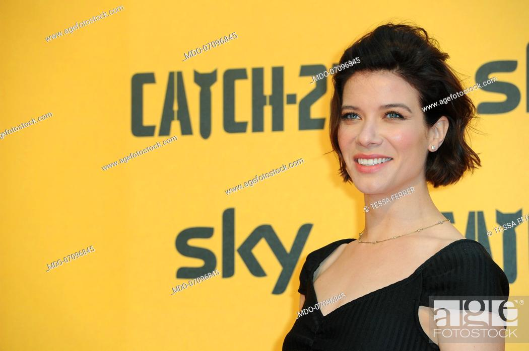 Stock Photo: American actress Tessa Ferrer attends the premiere of the Sky TV serie Catch-22. Rome (Italy), May 13th, 2019.