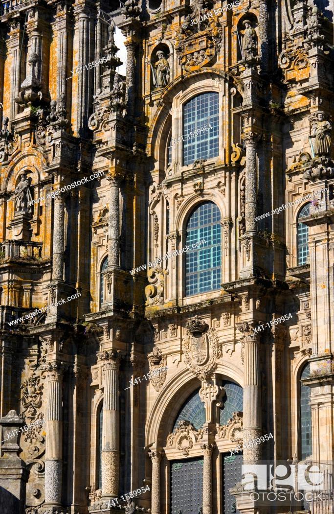 Stock Photo: Santiago de Compostela Cathedral detail.