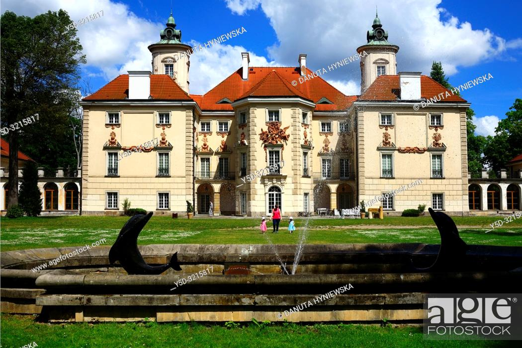 Stock Photo: Palace at Otwock Wielki or Otwock Grand Palace known also Jezierscy Family palace or Bielinscy Family palace, architect Tylman van Gameren.