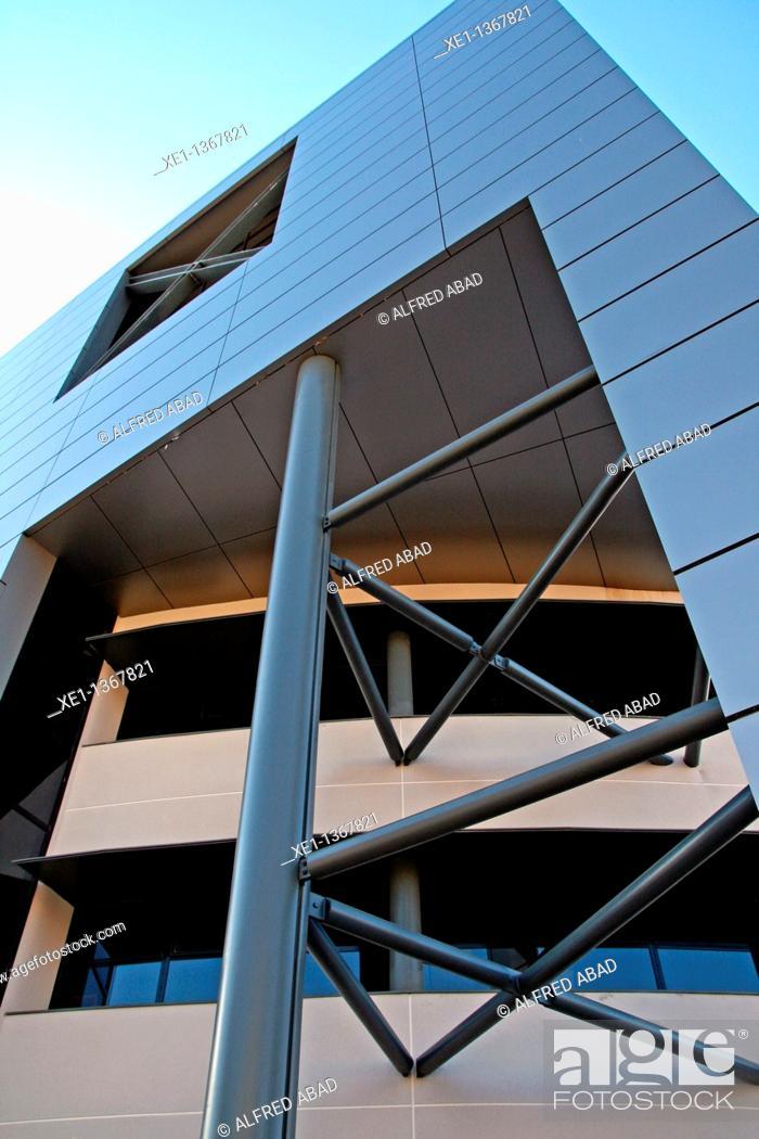 Stock Photo: building Diari de Tarragona, Tarragona, Catalonia, Spain, building Diari de Tarragona, Tarragona, Catalonia, Spain.