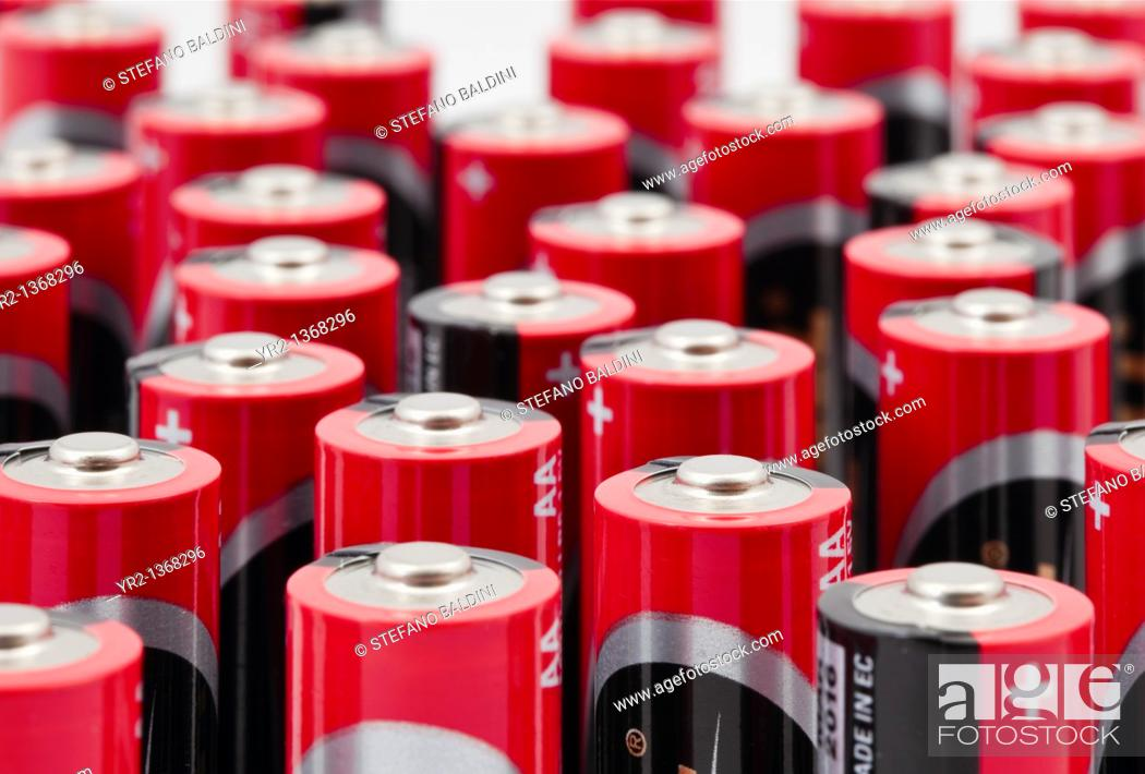 Stock Photo: Duracell alkaline procell batteries for professional use, 1 5 volt.