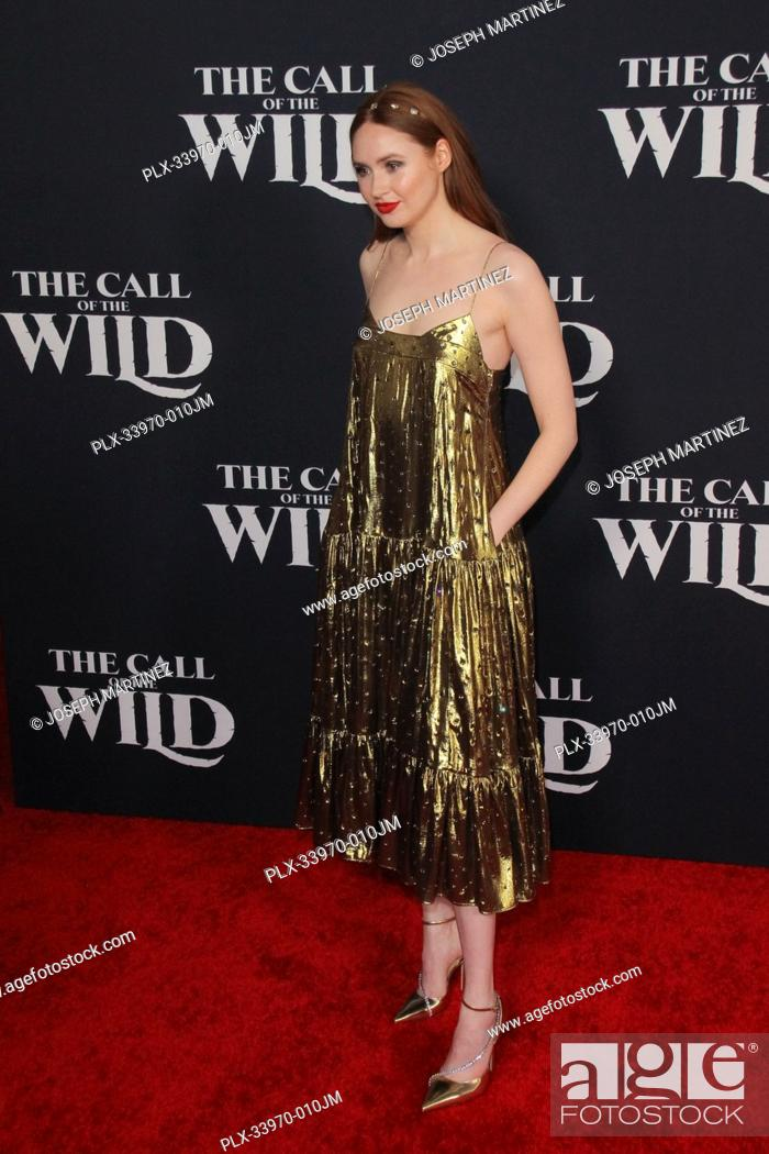 """Stock Photo: Karen Gillan at """"""""The Call Of The Wild"""""""" World Premiere held at El Capitan Theatre in Los Angeles, CA, February 13, 2020."""