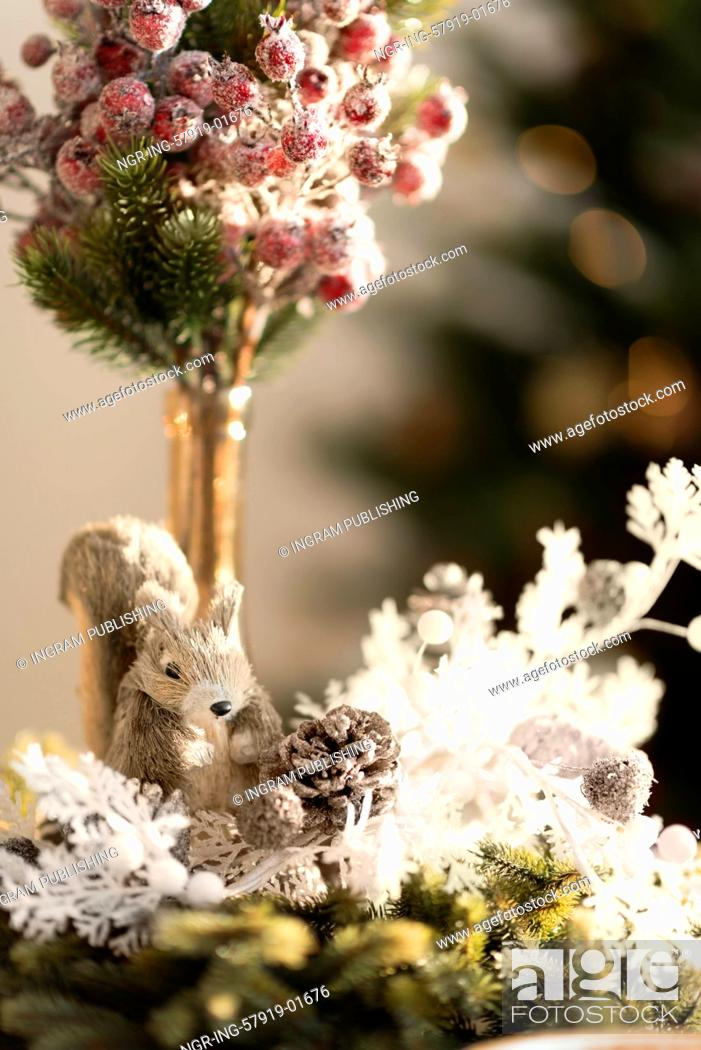Stock Photo: Christmas interior in natural light of sunny day.