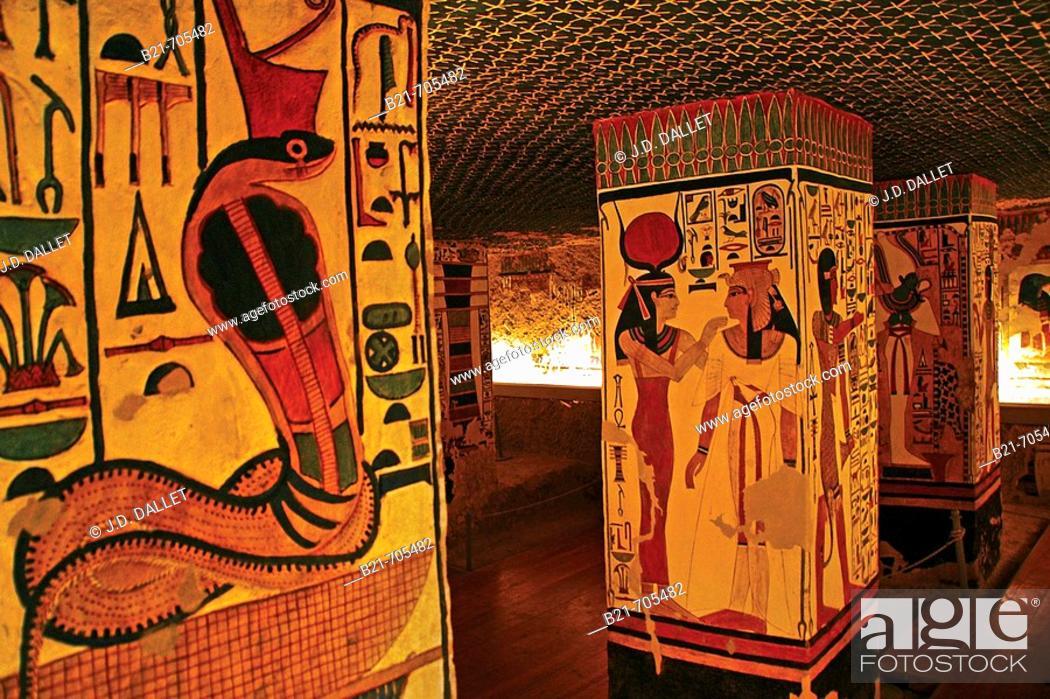 Stock Photo: Queens Valley: Nefertari tomb, Luxor west bank. Egypt.