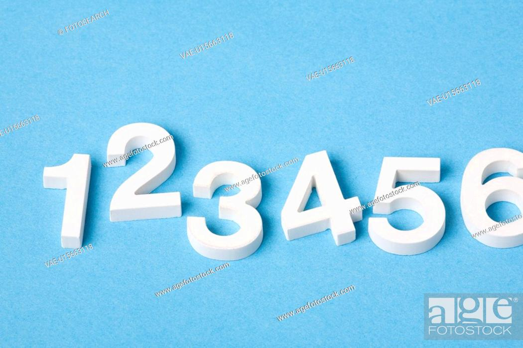 Stock Photo: Numerals from one to six.