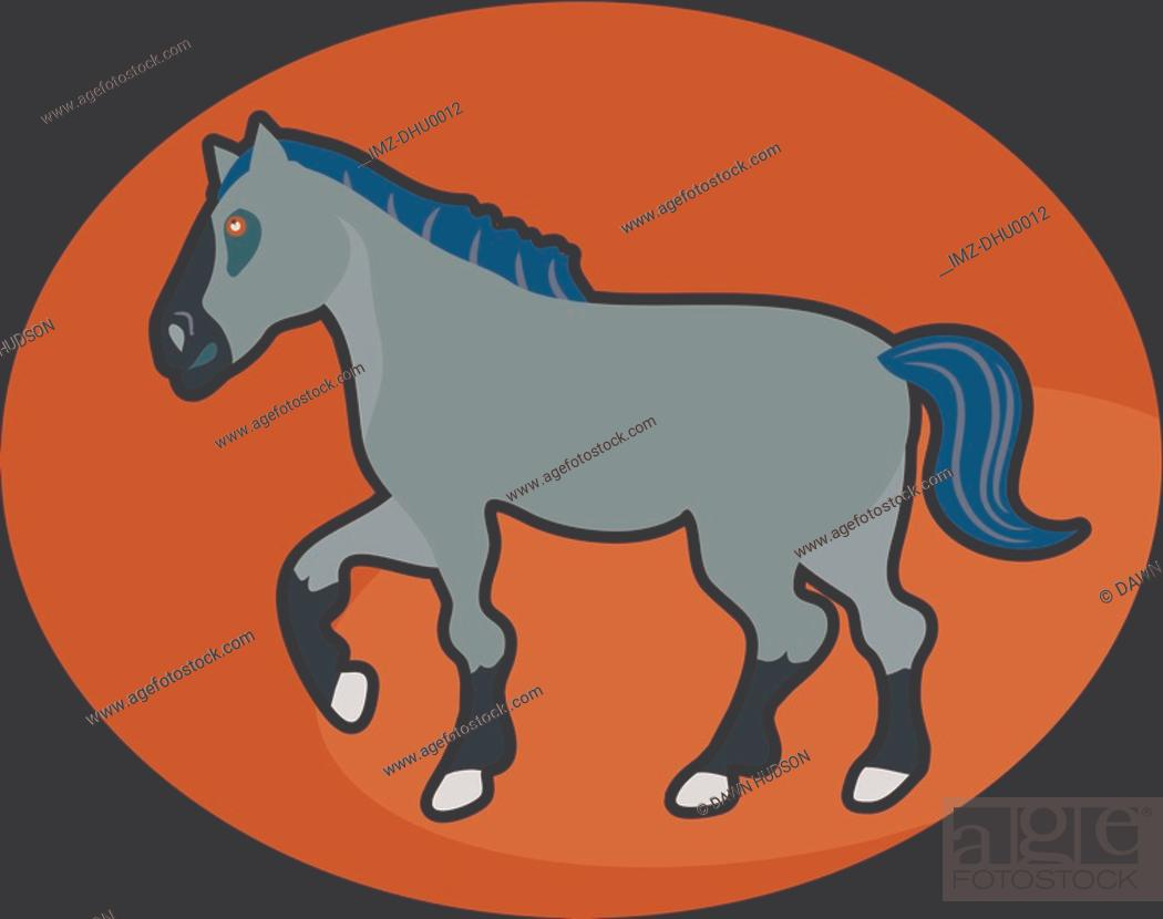 Stock Photo: Illustration of a horse.