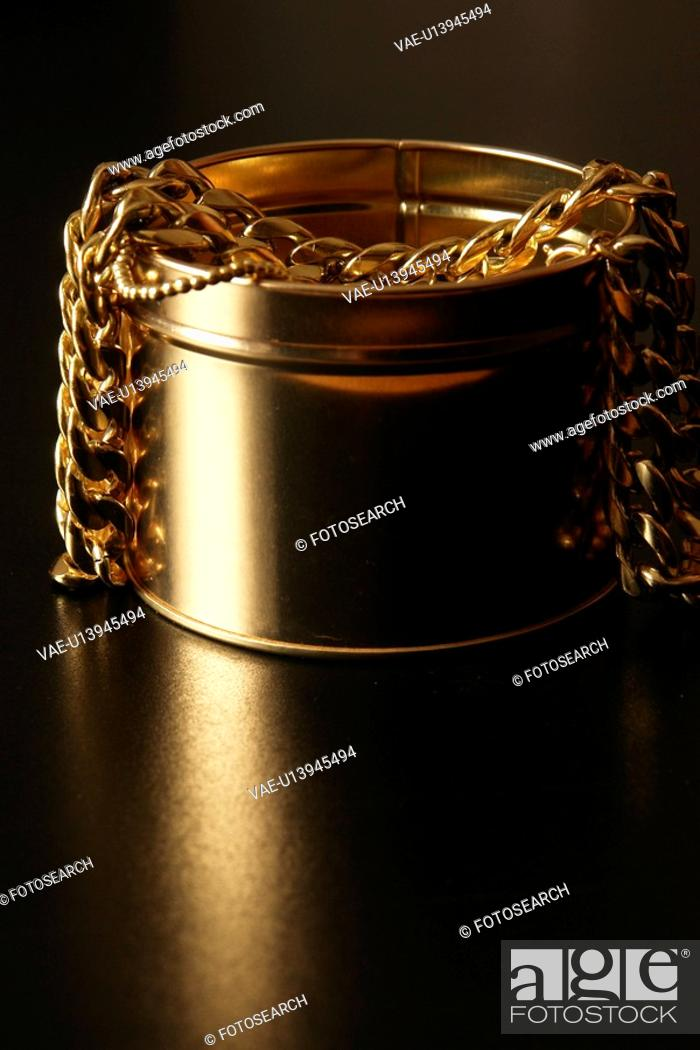 Stock Photo: present, exploit, dark, decorate, notional, gold-chains, affection.