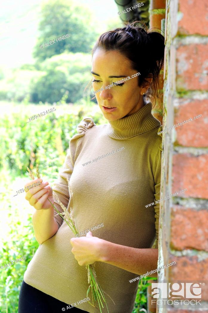 Stock Photo: Woman in rural setting.