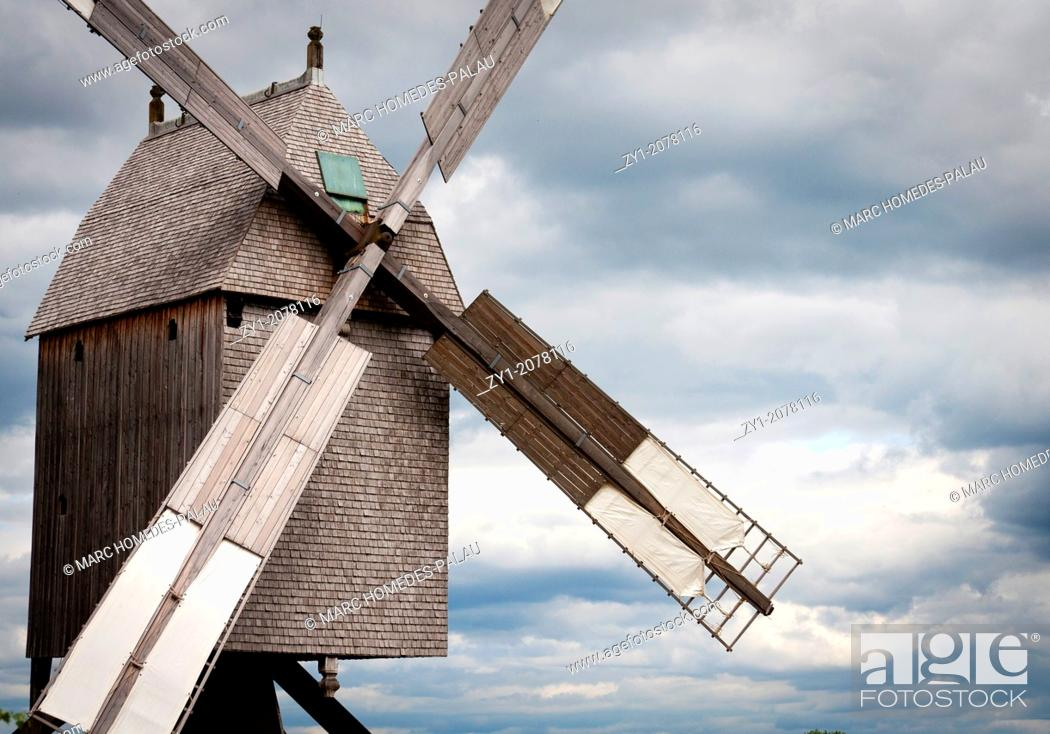 Stock Photo: Windmill Detmold, Germany.