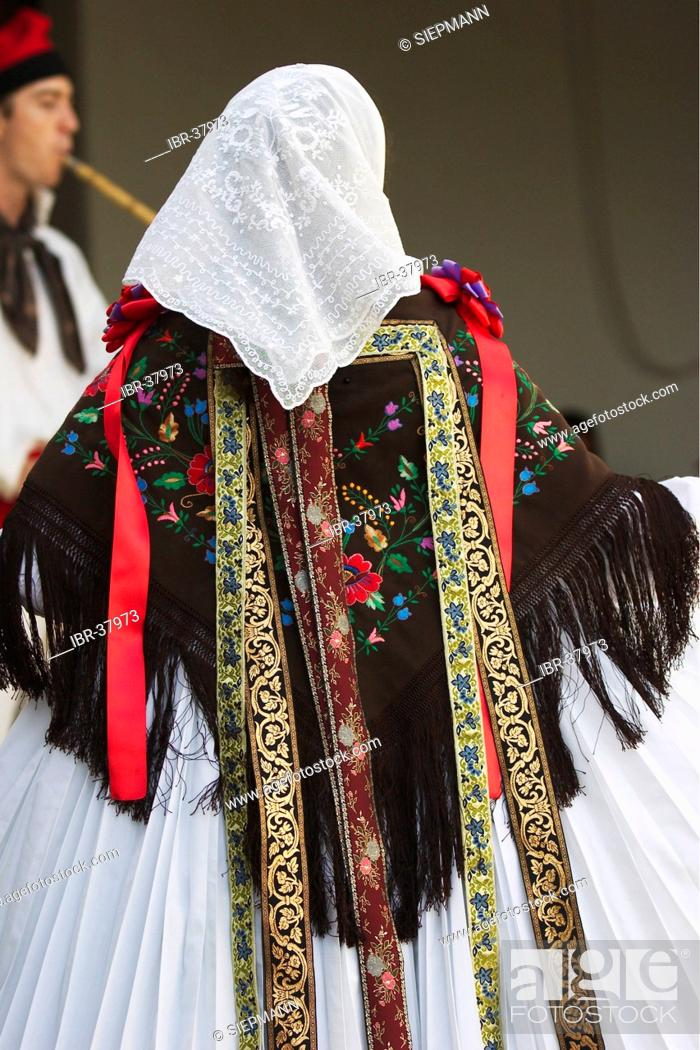 Stock Photo: Folklore in Sant Miquel de la Balensát ( San Miguel ).