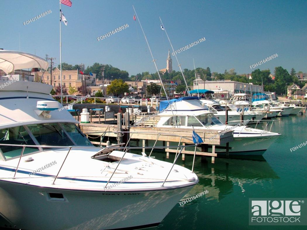 Stock Photo: Port Washington, WI, Wisconsin, Lake Michigan, marina, harbor.