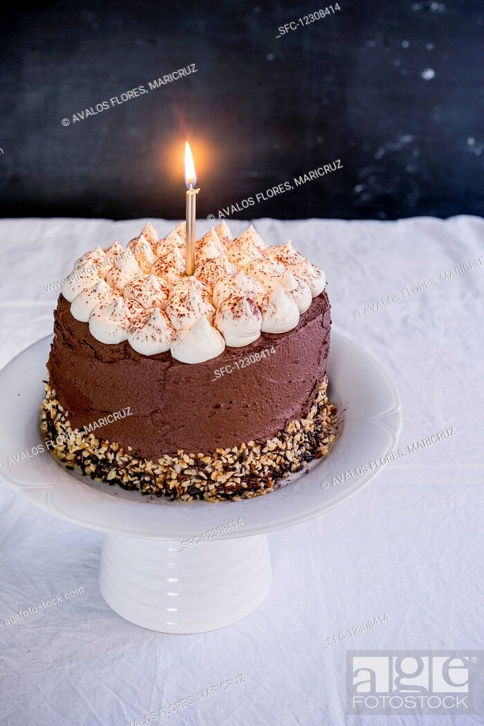 Imagen: Chocolate Happy Birthday Cake.