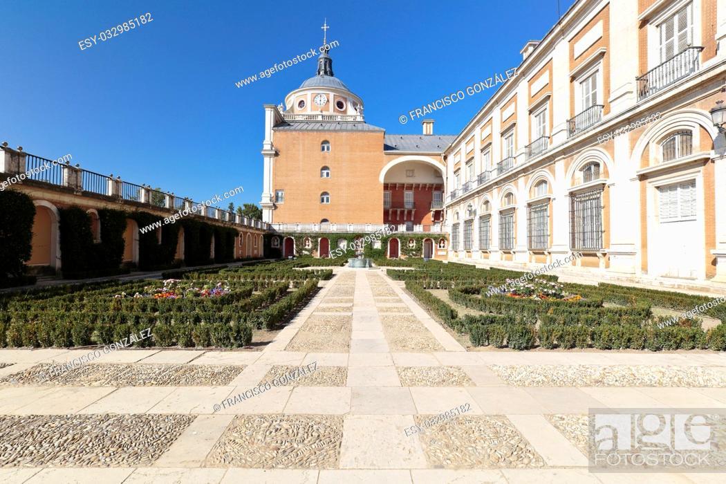 Photo de stock: Royal Palace of Aranjuez, Madrid, Spain. Horizontal shot.
