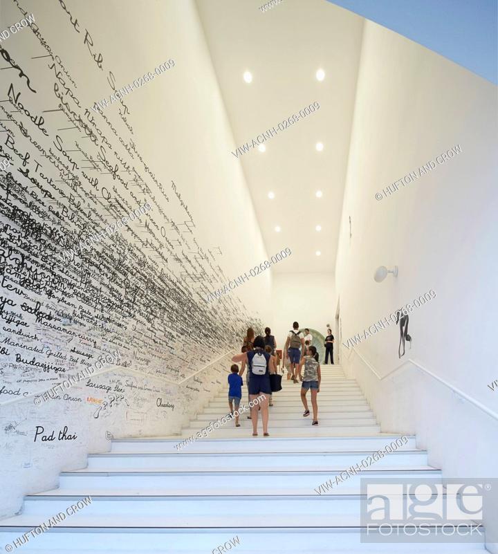 Pavilion staircase with wall graphics  Milan EXPO 2015, Korea