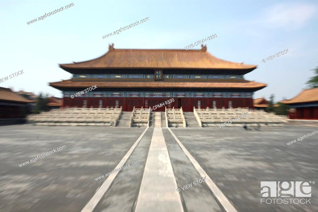 Stock Photo: People From Different Countries Being Together In The Forbidden City,Beijing,China.