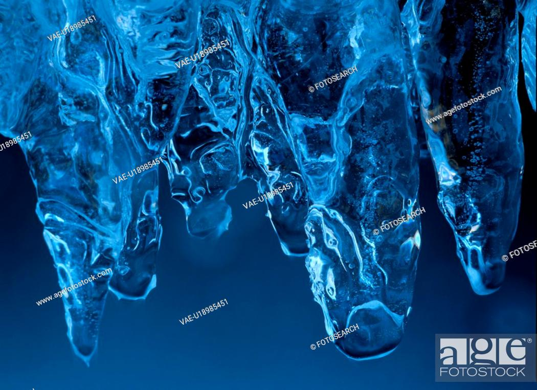 Stock Photo: Ice Formation.