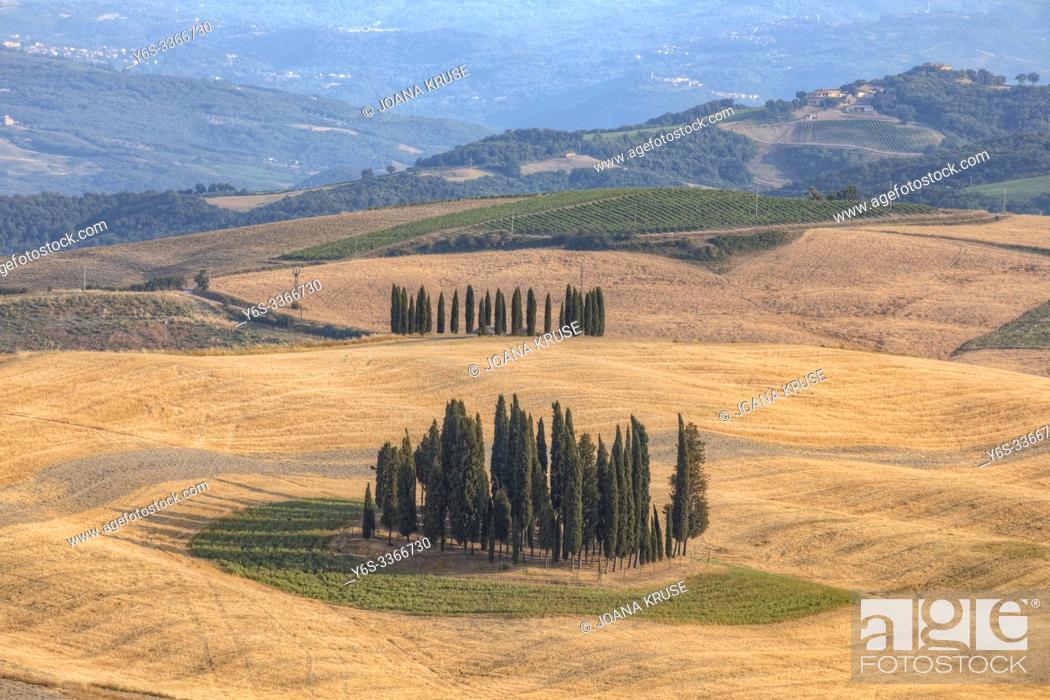 Imagen: San Quirico, Tuscany, Italy, Europe.
