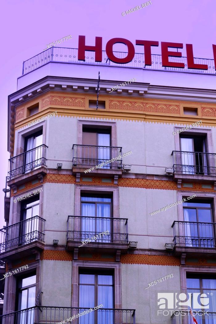 Stock Photo: Hotel, Gothic Quarter, Barcelona, Catalonia, Spain.