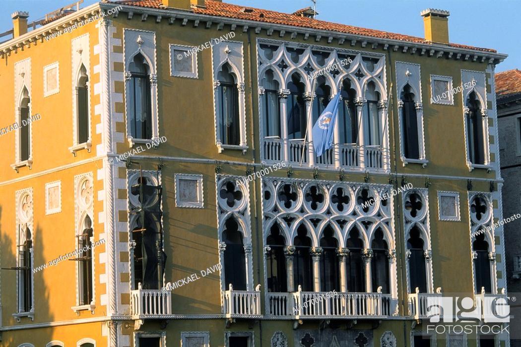 Stock Photo: Italy - Venice - The Ca' d'Oro - beautiful and delicate architecture.
