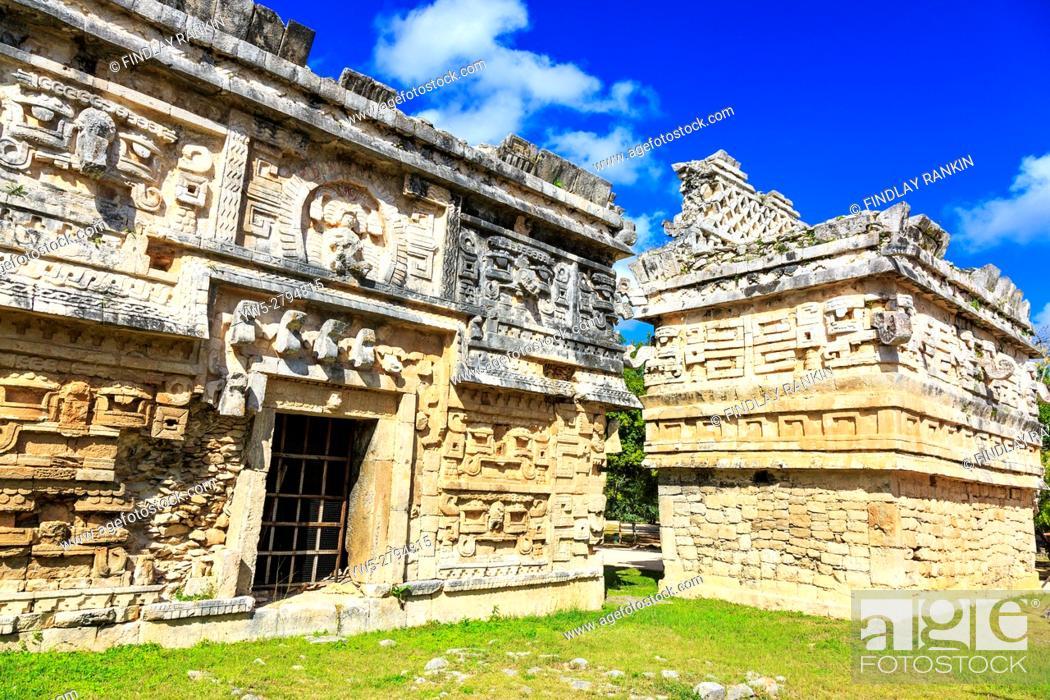 Photo de stock: La Iglesia, Chichen Itza, Xichen, Yucatan Provence, Mexico.