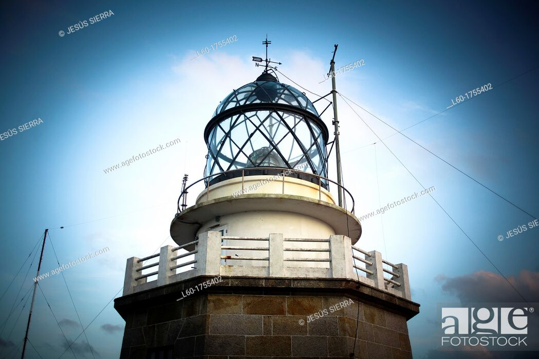Stock Photo: Lighthouse in Estaca de Bares, A Coruña, Galicia, Spain.