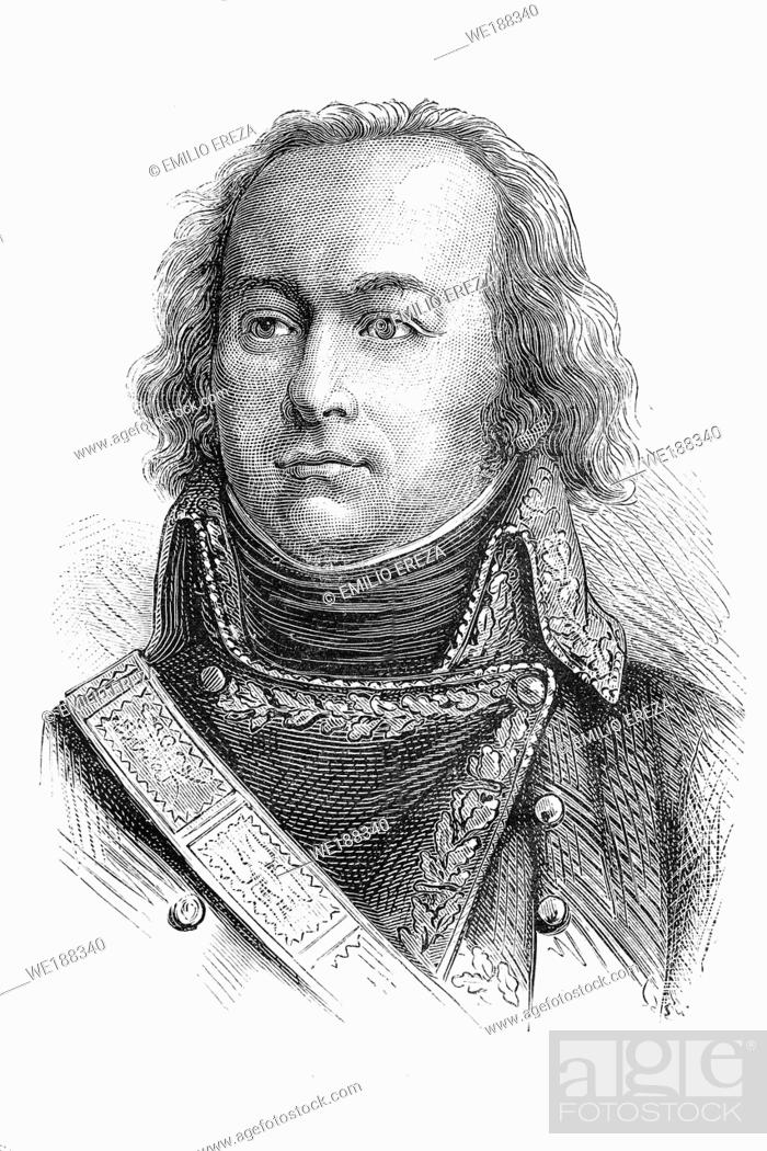 Imagen: Claude Jacques Lecourbe. French general. Napoleonic wars. 1759-1815. Antique illustration. 1890.