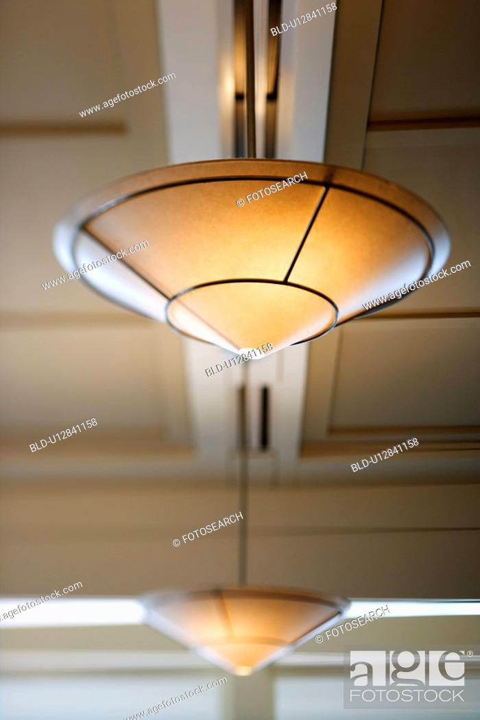 Stock Photo: Ceiling lighting.