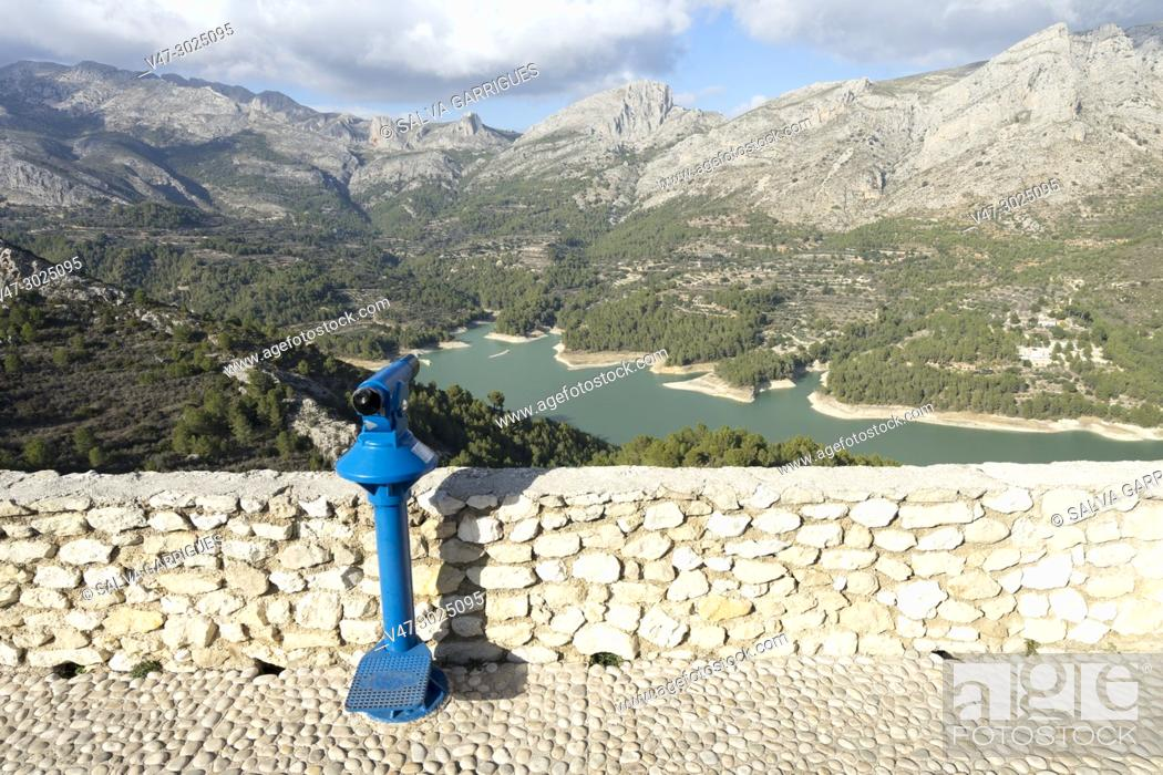 Stock Photo: Viewpoint of the swamp of Guadalest.