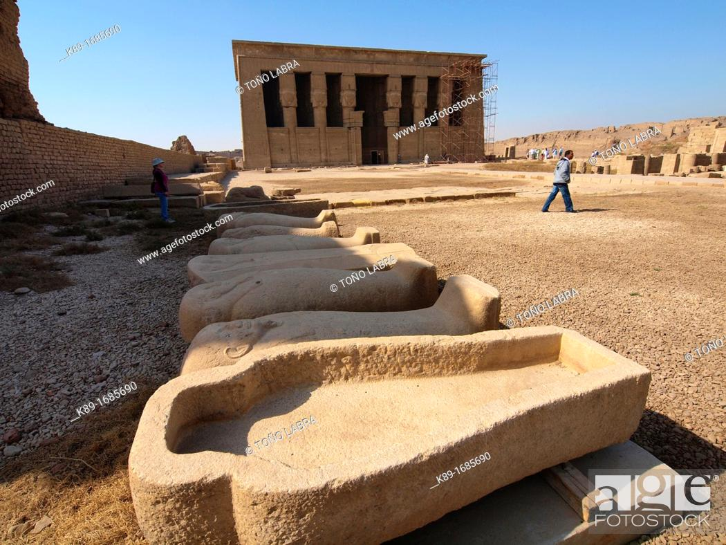 Stock Photo: Dendera temple dedicated to Hathor goddess. Upper Egypt.