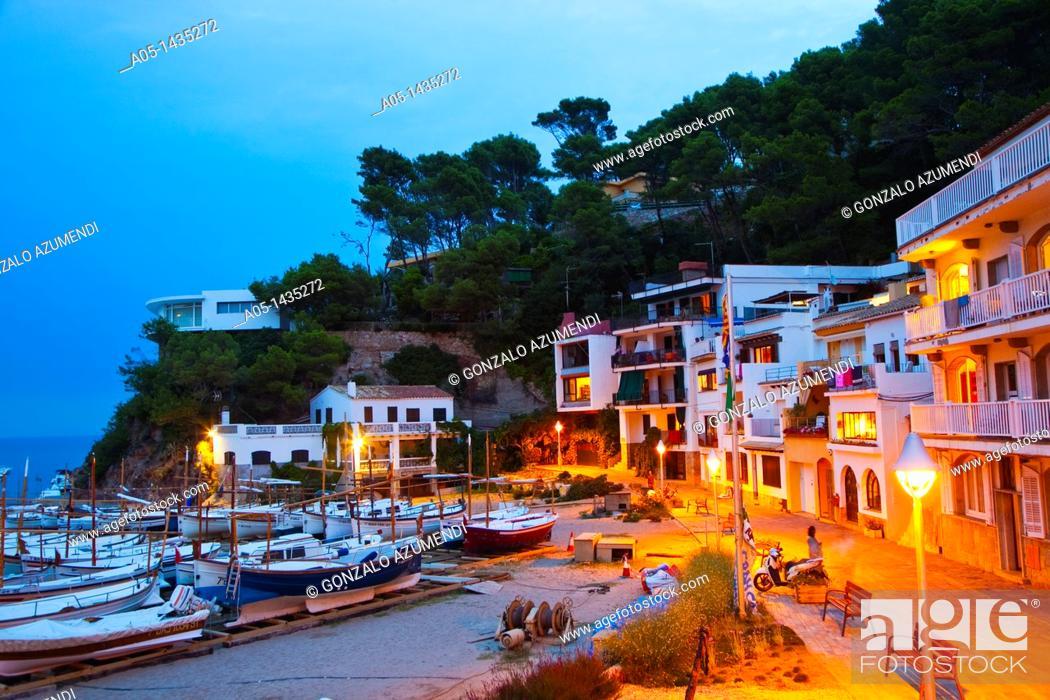 Stock Photo: Sa Riera beach, Begur, Baix Empordá, Costa Brava, Girona Province, Catalonia, Spain.