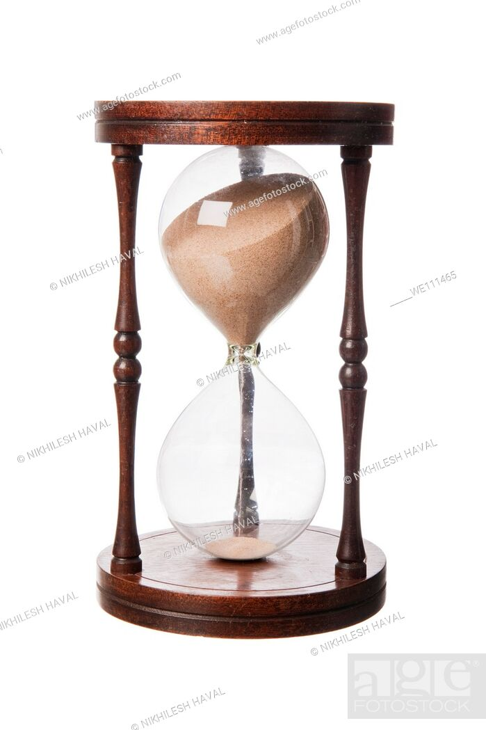 Stock Photo: Vintage old wooden Hourglass.