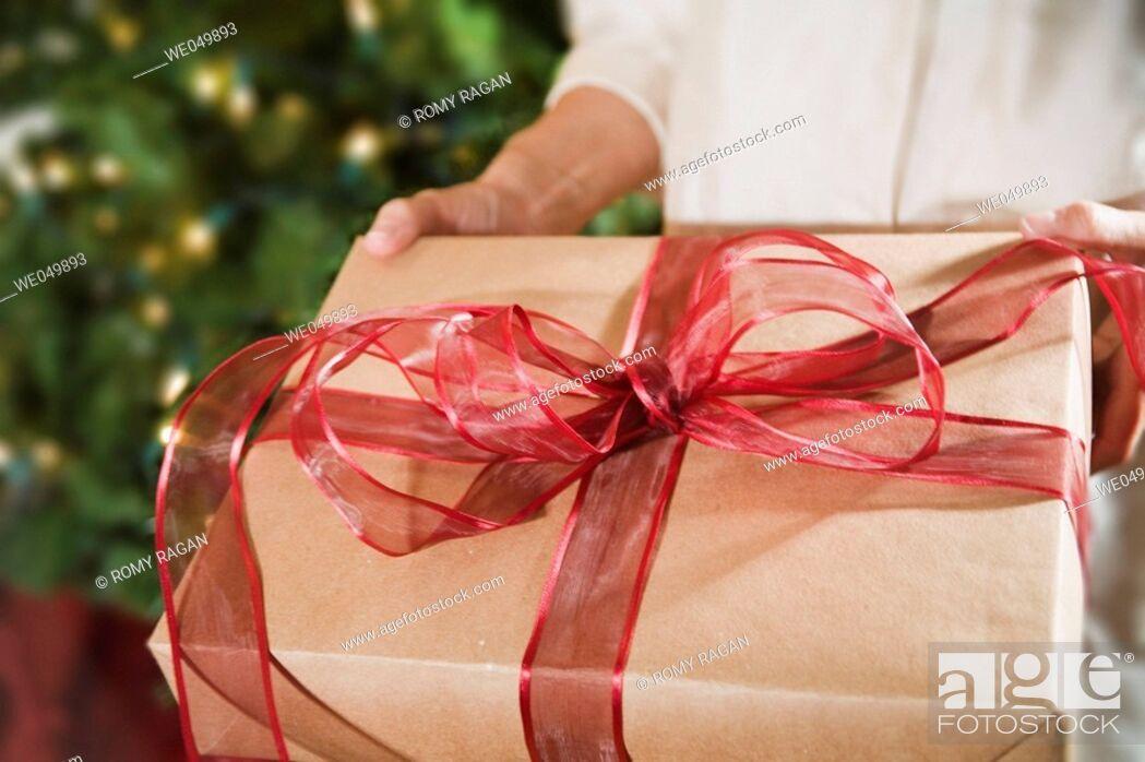 Stock Photo: Christmas gift.