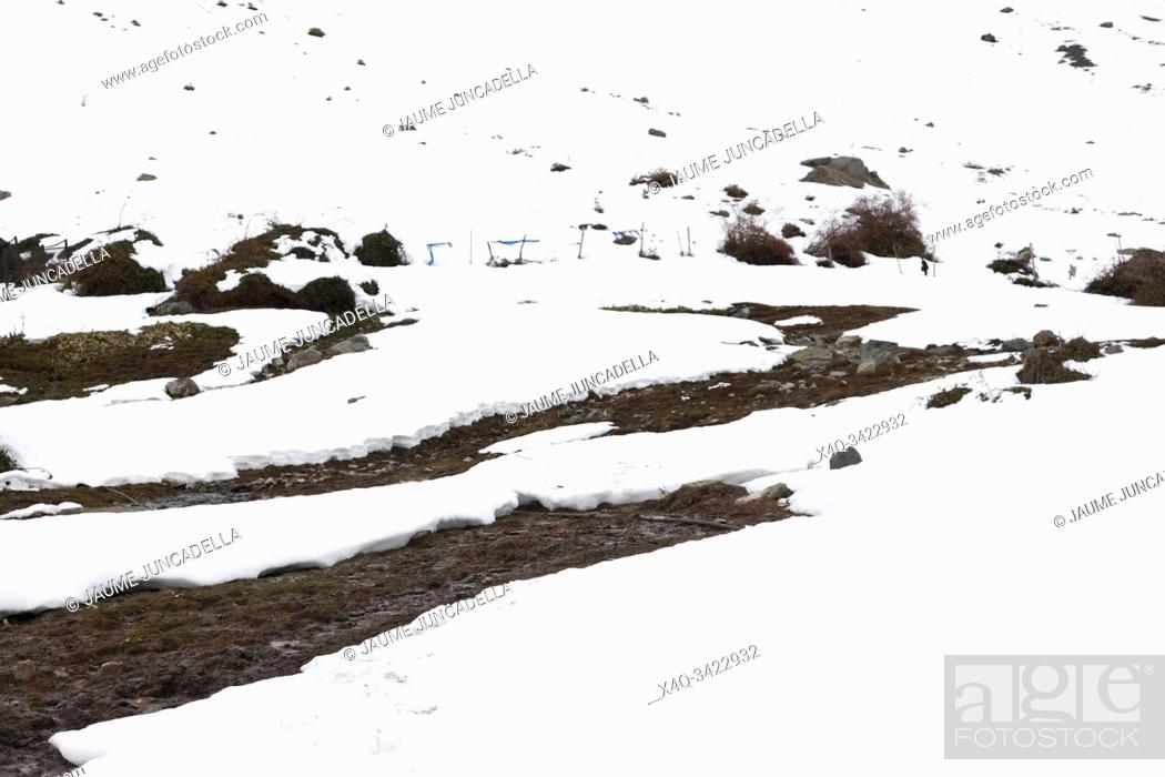 Stock Photo: Snow in Andes mountains. chile.