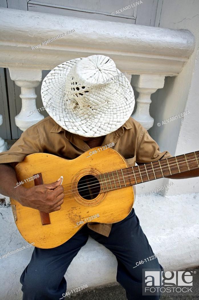Stock Photo: Musician. Santiago de Cuba. Cuba.