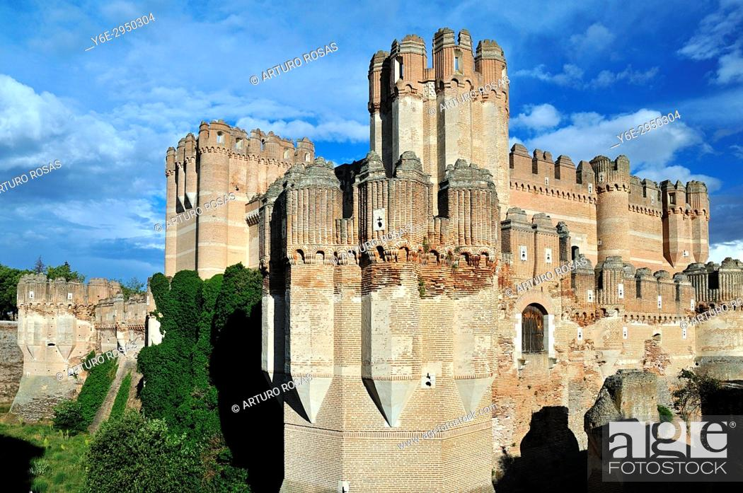 Stock Photo: Coca Castle in Segovia. Spain.