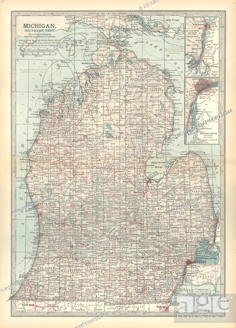 Map of the southern part of Michigan, United States, with ... Inset Map Of United States on light map of united states, insect map of united states, lake map of united states, framed map of united states, train map of united states, flat map of united states, raised map of united states, scale map of united states, insert map of united states, resources map of united states, solid map of united states,