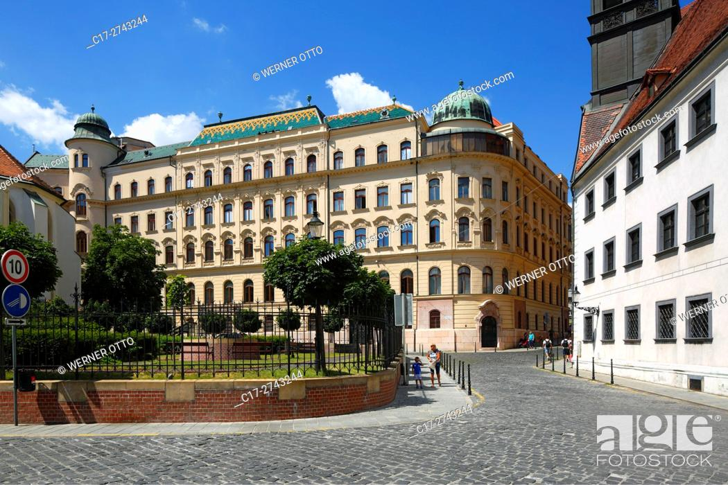 Stock Photo: Slovak Republic, Slovakia, Bratislava, Capital City, Danube, Little Carpathians, General Post Office building.