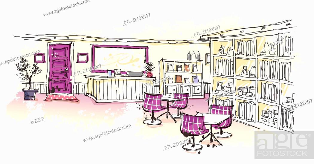 Stock Photo: Empty reception area.