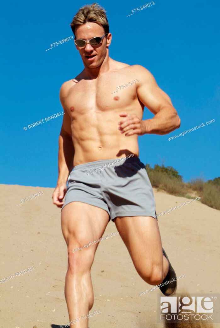 Stock Photo: Running sand dunes in Los Angeles, CA.