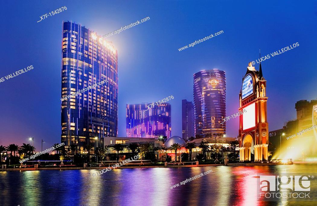 Stock Photo: City of Dreams,Taipa island,Macau,China.