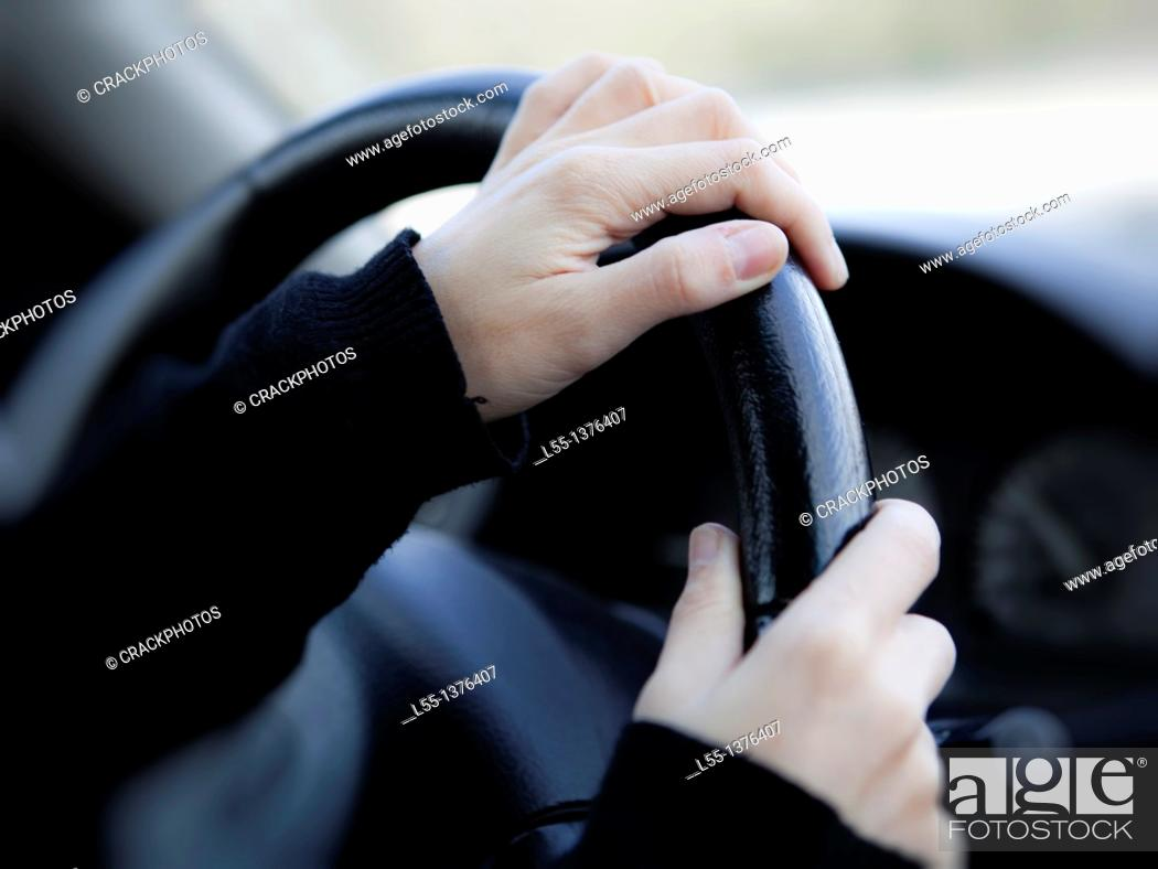 Stock Photo: Driving.