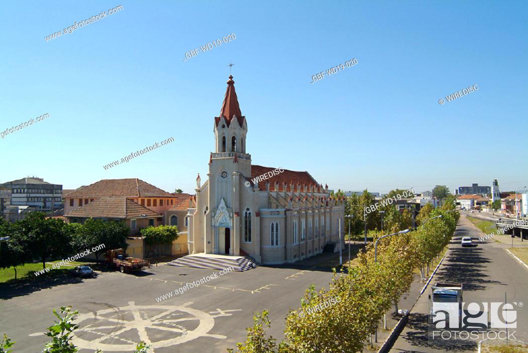 Stock Photo: Church, Rio Grande do Sul, Brazil.