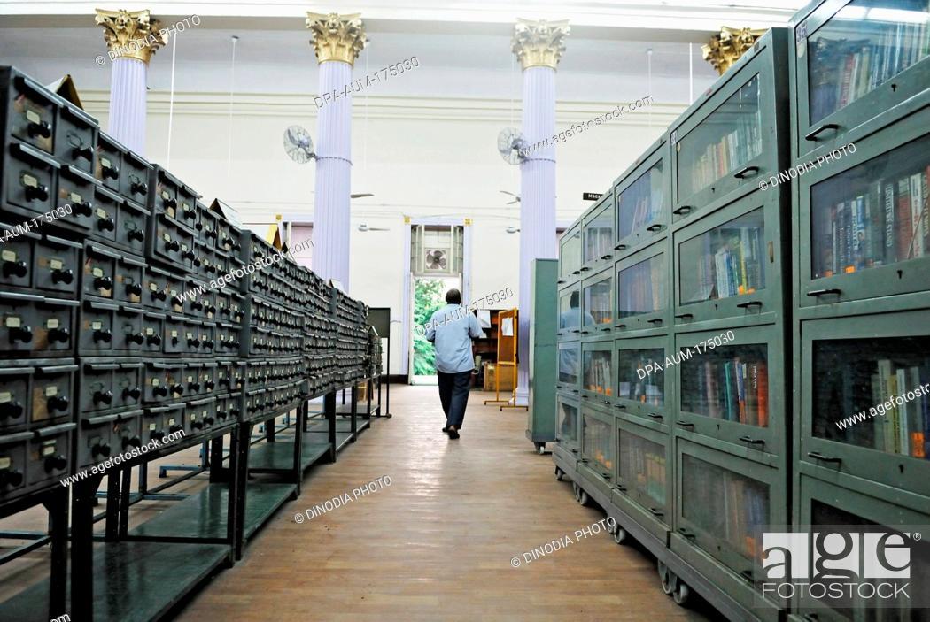 Stock Photo Lockers And Book Shelves In Town Hall Asiatic Library Bombay Mumbai Maharashtra