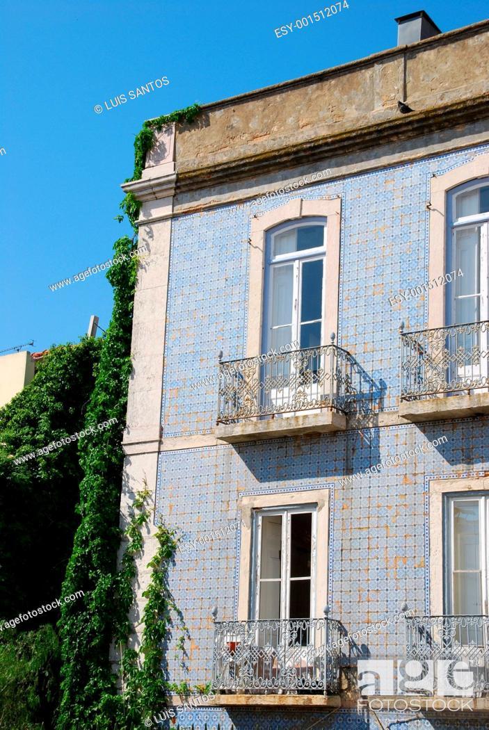 Stock Photo: Lisbons building.