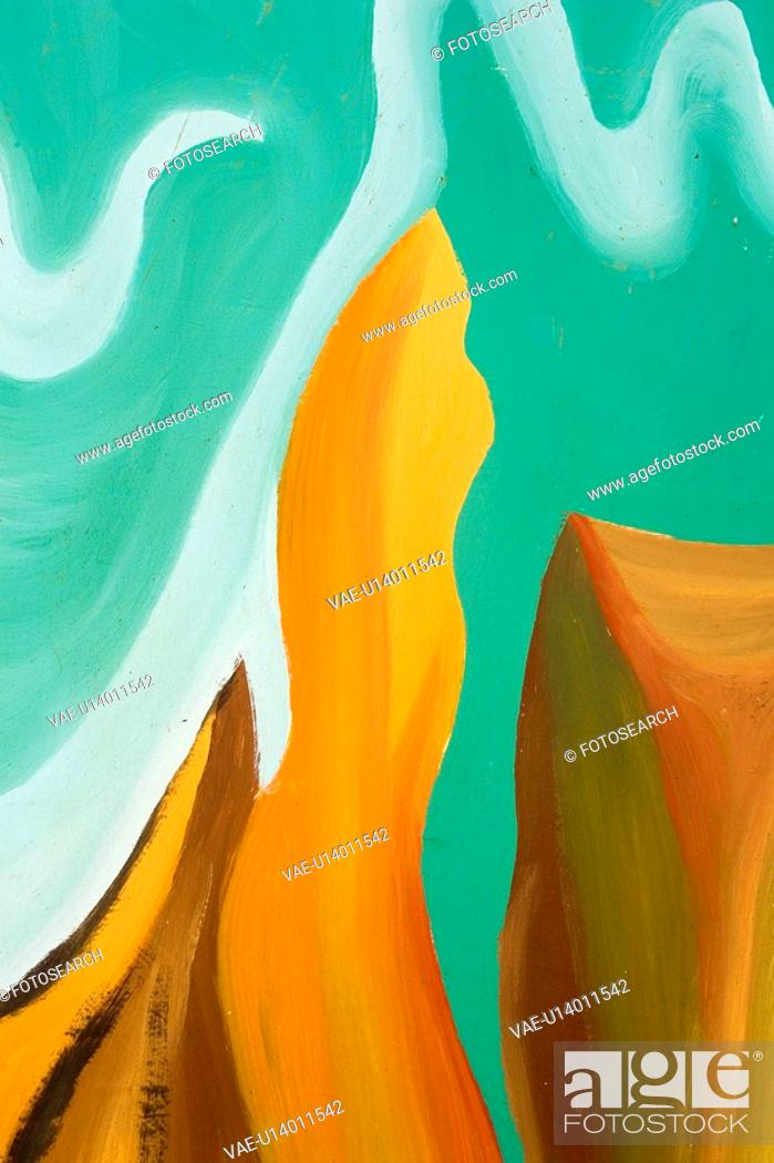 Stock Photo: Bright, Close-Up, Design, Green, Illustration And Painting.